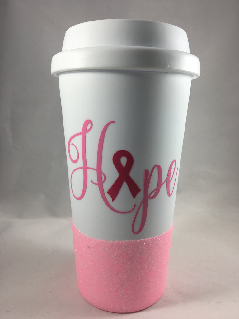 Breast Cancer Awareness travel mug - Unbreakable Memories