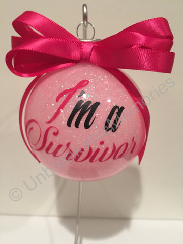 Breast Cancer Awareness ornament - Unbreakable Memories