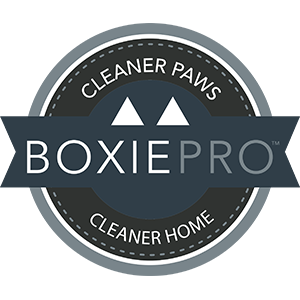 BoxiePro cat litter cleaner paws = cleaner home
