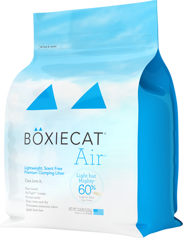 Boxiecat Air Lightweight, Scent Free, Premium Clumping Litter, 11.5 lb bag front of package