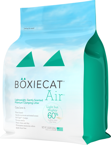 Boxiecat Air Lightweight, Gently Scented, Premium Clumping Litter, 11.5 lb bag, front of bag