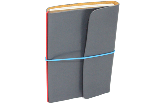 Silver Full Grain Leather Notebook & Journal