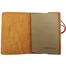 Full Grain Leather Journal in Natural Color with Banana Paper Notebook