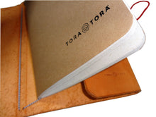 Full Grain Leather Journal in Natural Color with Banana Paper Notebook Side