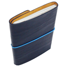 Leather Notebook & Journal Navy Blue. Blue String. Back