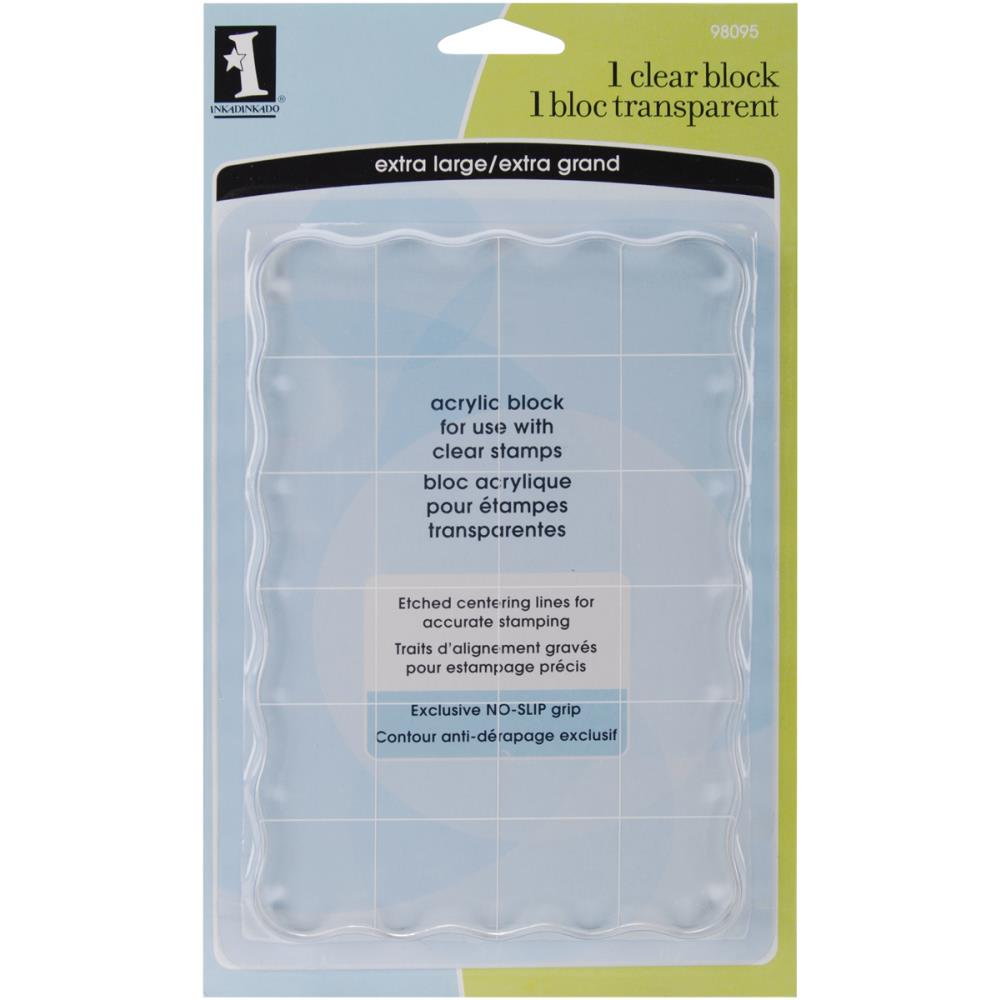 Inkadinkado Clear Block - Extra Large