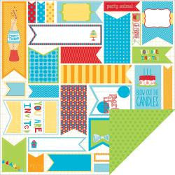 BoBunny 12x12 Paper - [Collection] - Surprise! - Cut Apart - Banners