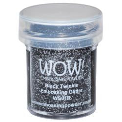 WOW Embossing Powders - Black Twinkle Embossing Glitter
