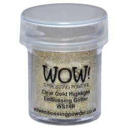 WOW Embossing Powders - Clear Gold Highlight Embossing Glitter