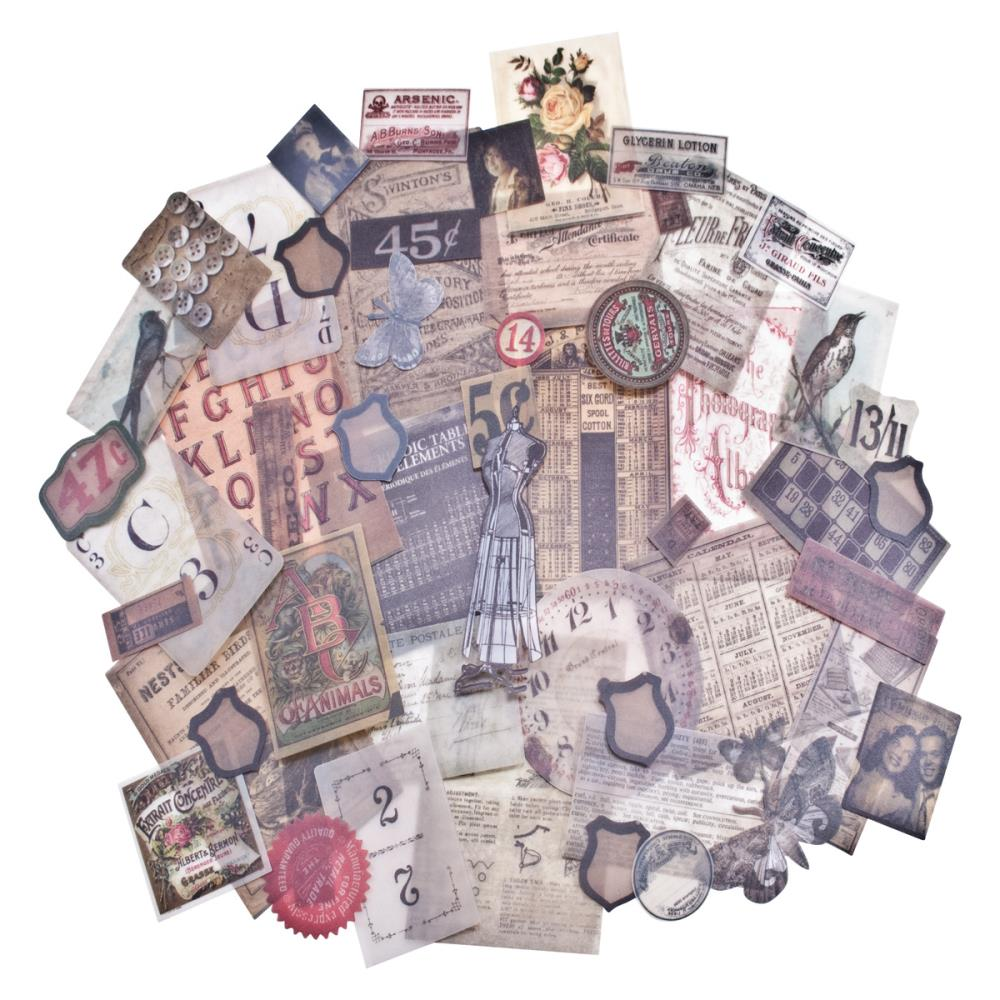 Tim Holtz idea-ology - Thrift Shop - Vellum Ephemera Pack