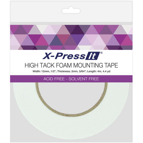 X-Press It High Tack Foam Mounting Tape - 1/2 inch