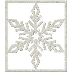 Fabscraps Die-Cut Grey Chipboard - Big Snowflake