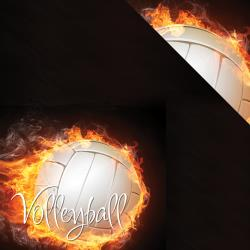 Reminisce Paper 12x12 - [Collection] The Volleyball Collection - Volleyball On Fire