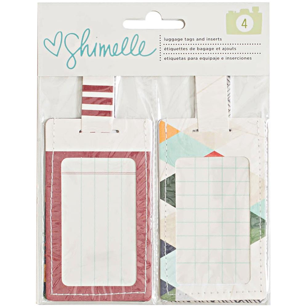 American Crafts [Collection] - Shimelle Go Now Go - Luggage Tags and Inserts