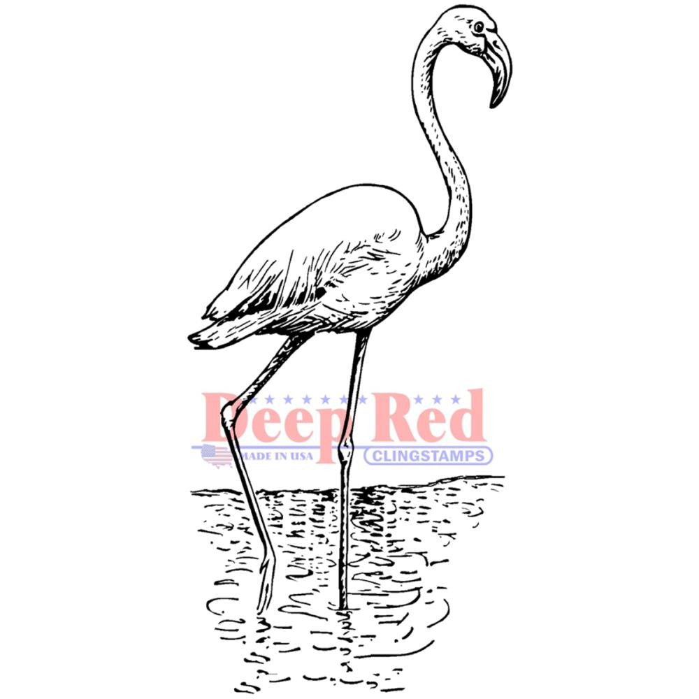 Deep Red Stamp - Flamingo