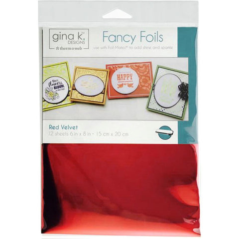 Therm-o-web Gina K Designs Fancy Foils - Red Velvet