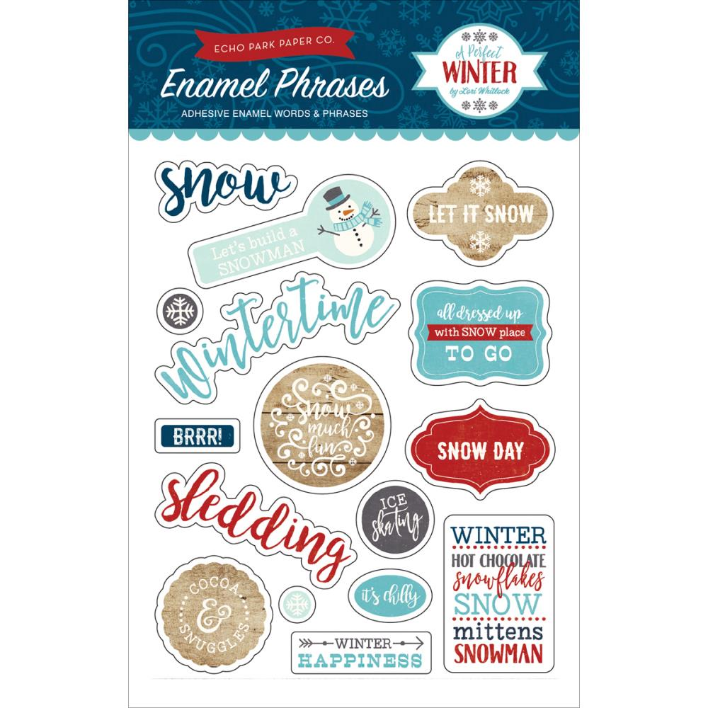 Echo Park Enamel Phrases - [Collection] - A Perfect Winter