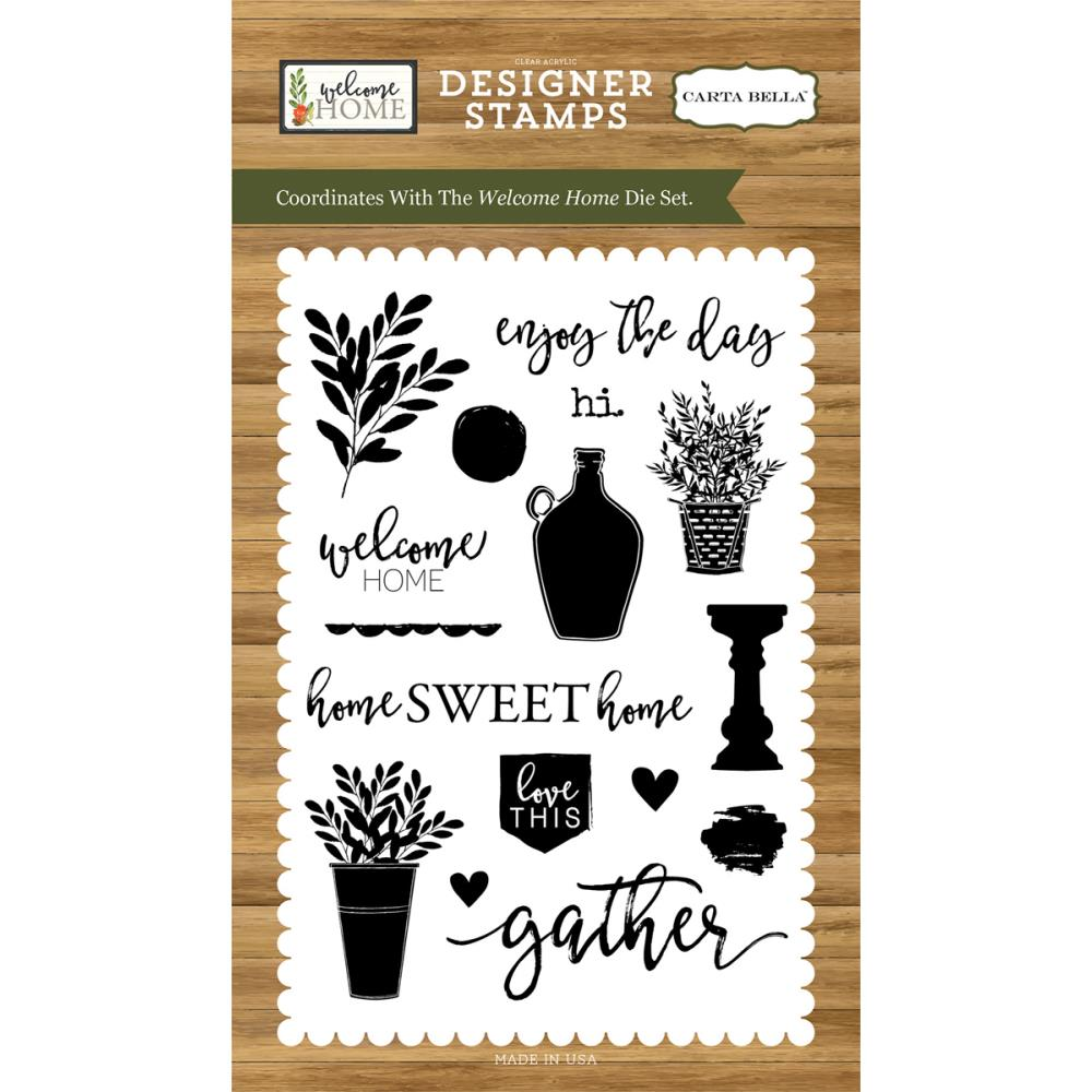 Carta Bella Clear Stamps - Welcome Home