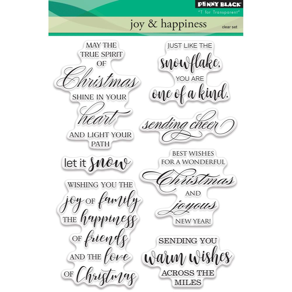 Penny Black Clear Stamps - Joy & Happiness