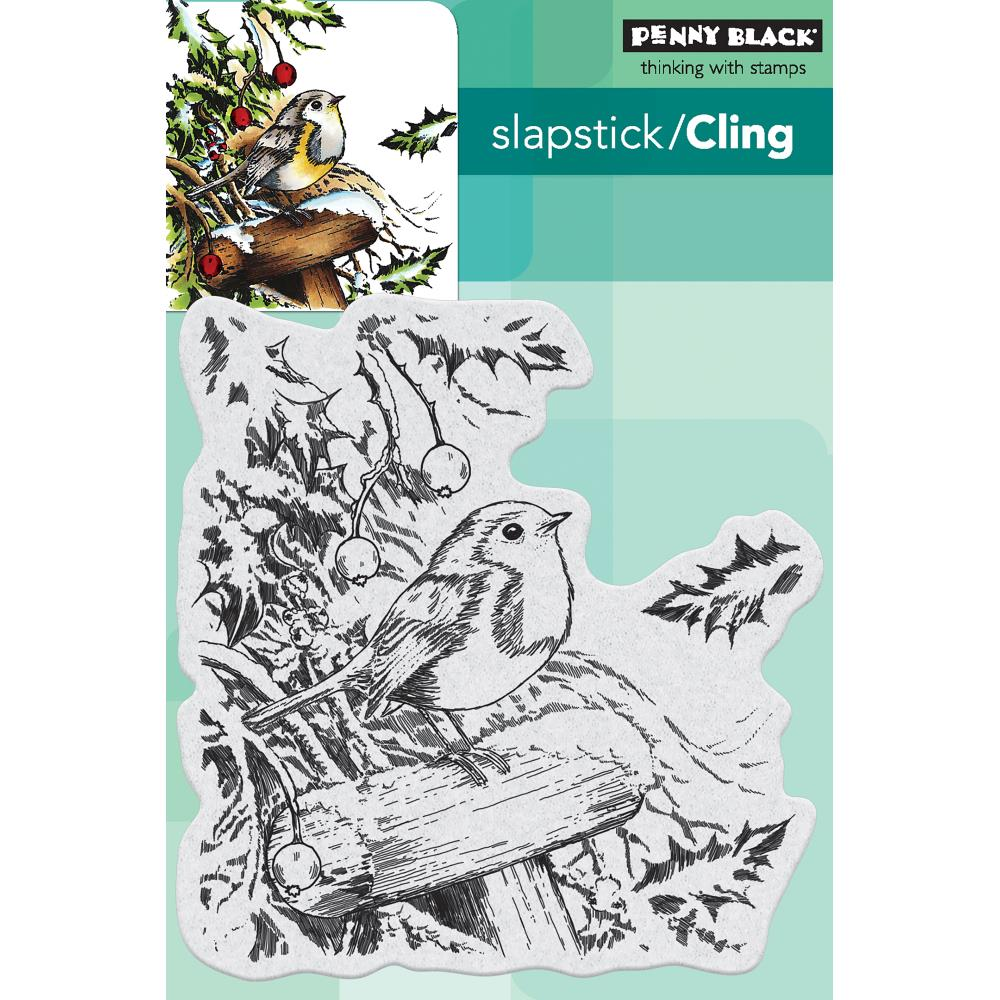 Penny Black Slapstick Cling Stamps - Snowy Perch