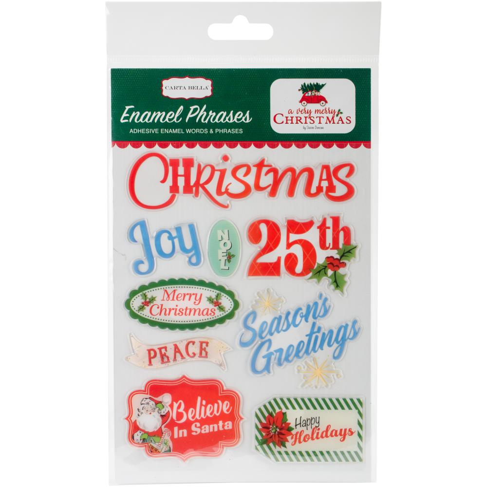 Carta Bella Enamel Phrases - [Collection] - A Very Merry Christmas