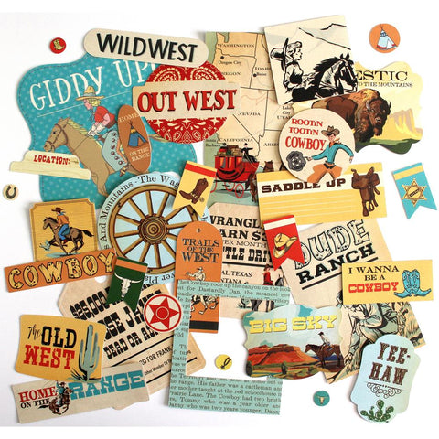 Carta Bella Ephemera   [Collection] - Cowboy Country