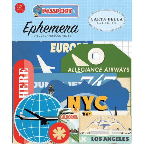 Carta Bella Ephemera  [Collection] - Passport