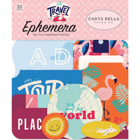 Carta Bella Ephemera  [Collection] - Let's Travel