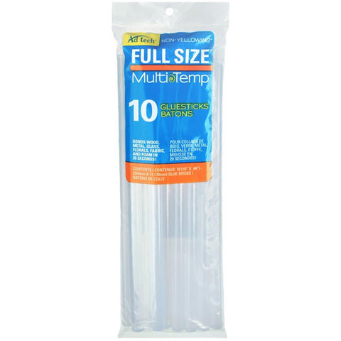 Ad tech Multi Temp Full Size Glue Sticks - 10