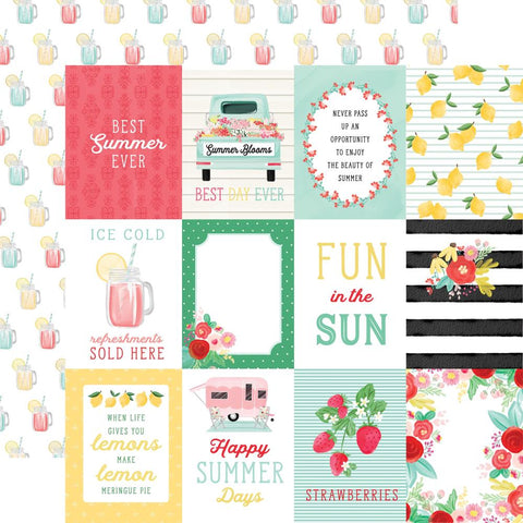 Carta Bella 12x12 Paper  [Collection] - Summer Market - 3x4 Journaling
