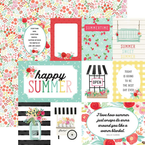 Carta Bella 12x12 Paper  [Collection] - Summer Market - Journaling