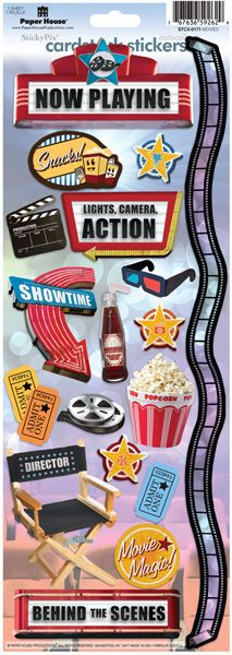 Paper House Cardstock Stickers - Movies