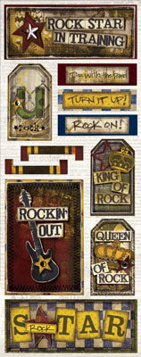 Bo Bunny Cardstock Stickers - [Collection] - Rock Star