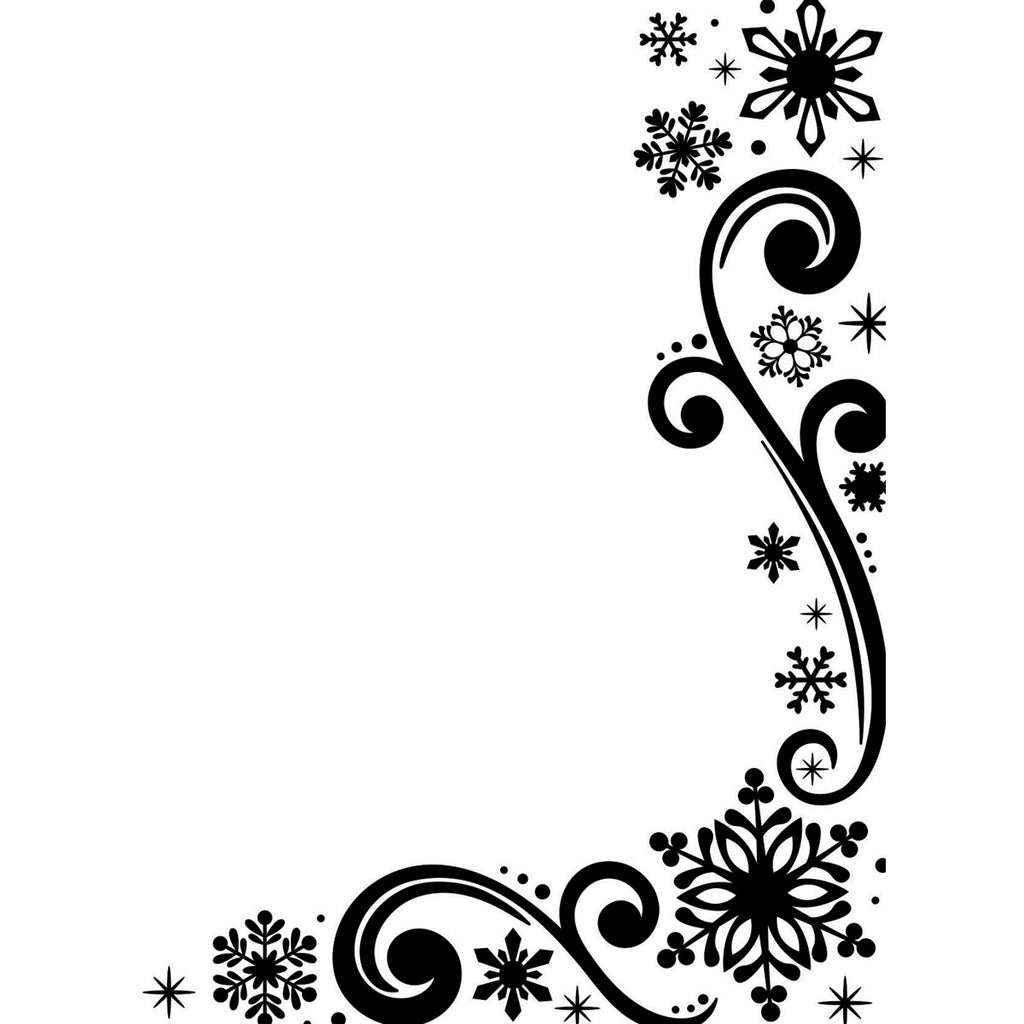 Darice Embossing Folder - Snowflake Scroll