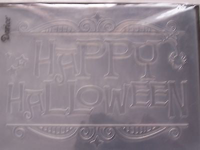 "Darice Embossing Folder - ""Happy Halloween"" Gate"