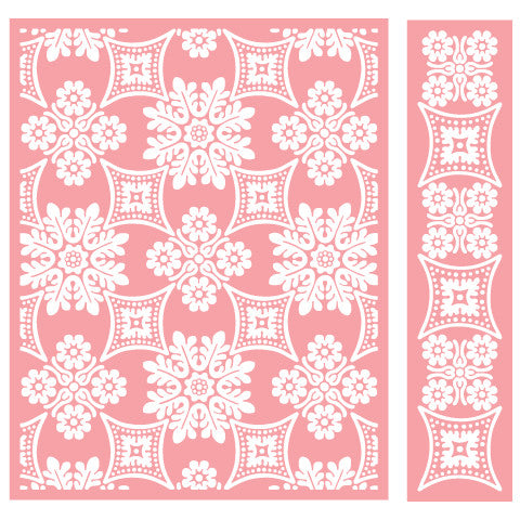 Cuttlebug Embossing Folder - Foulard