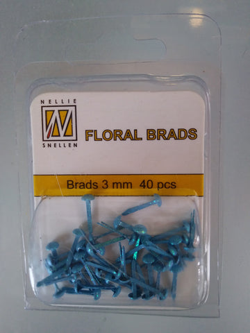 Ecstasy [Nellie's Choice] Floral Brads - Blue