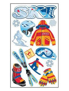 EK Success - Sticko Classic Stickers - Skiingll