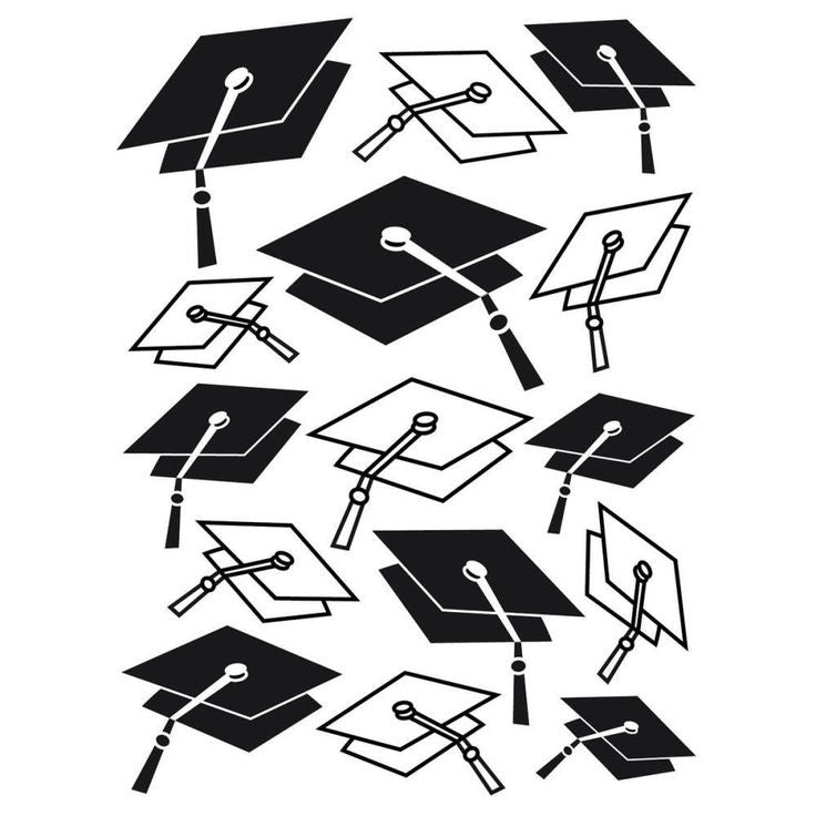 Darice Embossing Folder - Graduation Cap