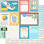 Scrapbook Customs 12x12 Paper - Cancun Cut Apart - DS Tropical Journal