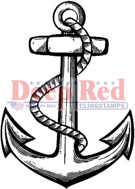 Deep Red Stamp - Anchor