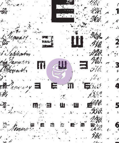 Prima Marketing Stamps - Eye Chart