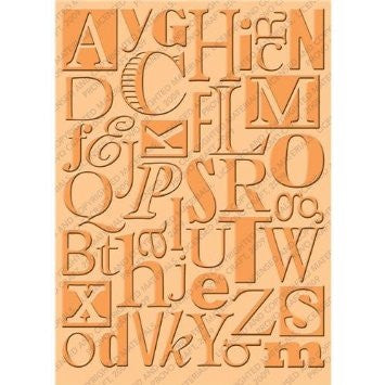 Cuttlebug Embossing Folder - Typeset