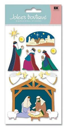 EK Success - Jolee's Boutique - Dimensional Stickers - Nativity Scene