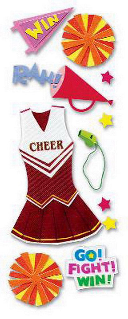 EK Success - A Touch of Jolee's - Dimensional Stickers - Cheerleader