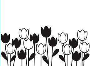 Darice Embossing Folder - Spring Tulips