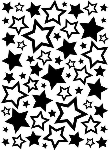 Darice Embossing Folder - Stars Assorted