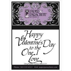 Paper Parachute Stamps - Happy Valentines Day