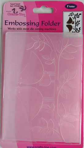 Crafts-Too Embossing Folder - Tweet Tweet