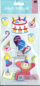 EK Success Jolee's Boutique - Dimensional Stickers - Clown Birthday